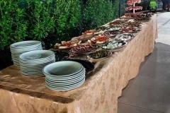 agriturismo la mongolfiera - allestimento buffet piscina