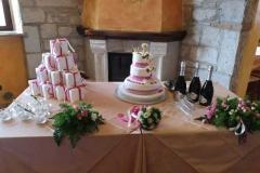 agriturismo la mongolfiera - allestimento tavolo torta comunione