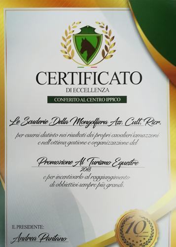 agriturismo la mongolfiera certificato di eccellenza centro ippico