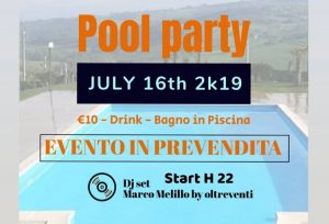 agriturismo la mongolfiera evento-pool-party-Fragneto Monforte Benevento