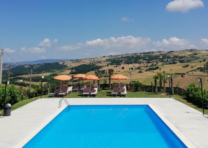 piscina agriturismo la mongolfiera Benevento